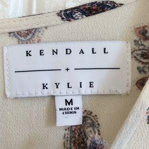 Kendall & Kylie Pants - Kendall + Kylie boho paisley print short romper